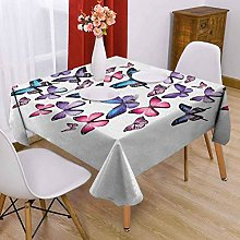 VICWOWONE Navy and Blush Square tablecloth