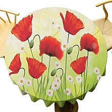 VICWOWONE Poppy Tablecloth - 40 Inch Round