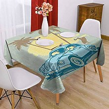 VICWOWONE Surf Square table cloth 54 x 54 inch