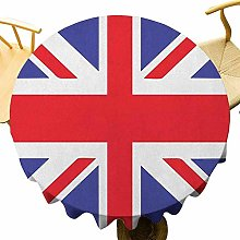 VICWOWONE Union Jack Tablecloth - 60 Inch Round