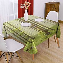 VICWOWONE Woodland Square tablecloth kitchen 63 x