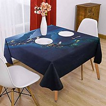VICWOWONE World Square tablecloth dinner 50 x 50