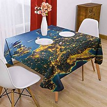 VICWOWONE World Square tablecloth ideal 63 x 63