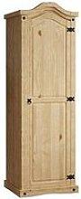Vida Designs Corona 1 Door Solid Pine Wardrobe