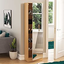 Vida Designs Kirkham Large Mirrored Shoe Cabinet,