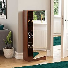 Vida Designs Kirkham Small Mirrored Shoe Cabinet,