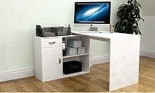 Vida Designs Longton Adjustable Computer Desk: Pine