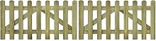 vidaXL 10 pcs Impregnated Pinewood Wooden Fence