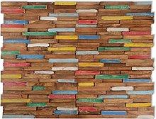 vidaXL 10x Solid Teak Wood Wall Cladding Panels