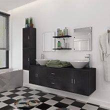 vidaXL 11 Piece Bathroom Furniture Set with Basin