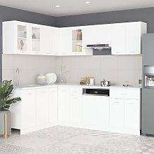 vidaXL 11 Piece Kitchen Cabinet Set White Chipboard