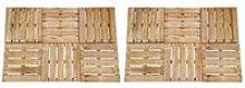vidaXL 12 pcs Decking Tiles 50x50 cm Wood Brown -