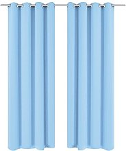 vidaXL 132207 2x Blackout Curtains 135 x 175 cm