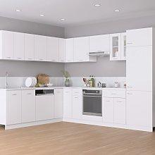 vidaXL 14 Piece Kitchen Cabinet Set White Chipboard