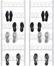 vidaXL 142314 2x Shoe Rack Shoe Rack Wall Shelf 18