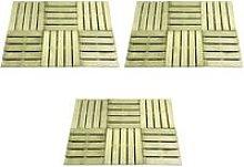 vidaXL 18 pcs Decking Tiles 50x50 cm Wood Green -