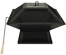 vidaXL 2-in-1 Fire Pit and BBQ with Poker