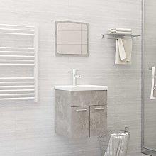 vidaXL 2 Piece Bathroom Furniture Set Concrete