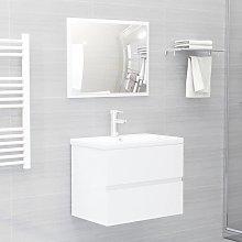 vidaXL 2 Piece Bathroom Furniture Set High Gloss