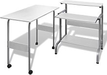 vidaXL 2 Piece Computer Desk with Pull-out