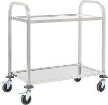 vidaXL 2-Tier Kitchen Trolley 107x55x90 cm