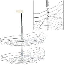 vidaXL 2-Tier Kitchen Wire Basket Silver 180