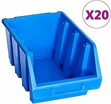 vidaXL 20x Stacking Storage Bins Stacking Boxes
