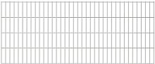 vidaXL 2D Garden Fence Panel Silver 2008x830 mm -