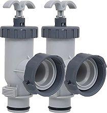 vidaXL 2X Pool Plunger Valves Spa Maintenance Kits