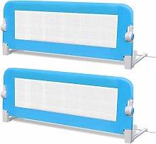 vidaXL 2x Toddler Safety Bed Rail Blue 102x42cm