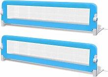 vidaXL 2x Toddler Safety Bed Rail Blue 150x42cm