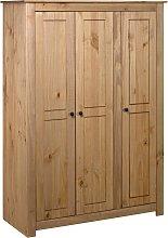 vidaXL 3-Door Wardrobe 118x50x171.5 cm Pine Panama