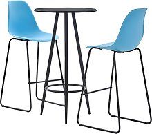 vidaXL 3 Piece Bar Set Plastic Blue