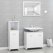 vidaXL 3 Piece Bathroom Furniture Set High Gloss