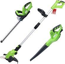 vidaXL 3 Piece Cordless Garden Power Tool Set