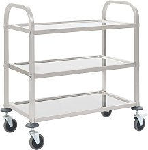 vidaXL 3-Tier Kitchen Trolley 107x55x90 cm