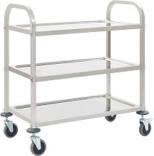 vidaXL 3-Tier Kitchen Trolley 87x45x83.5 cm