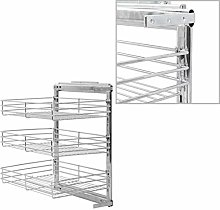 vidaXL 3-Tier Pull-Out Kitchen Electroplated Wire