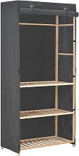 vidaXL 3-Tier Wardrobe Grey 79x40x170 cm Fabric