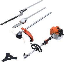 vidaXL 4-in-1 Petrol Garden Multi-tool Set with 52