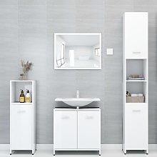 vidaXL 4 Piece Bathroom Furniture Set High Gloss