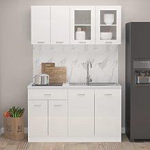 vidaXL 4 Piece Kitchen Cabinet Set High Gloss