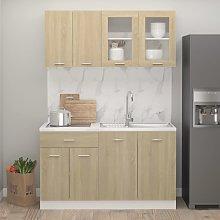 vidaXL 4 Piece Kitchen Cabinet Set Sonoma Oak