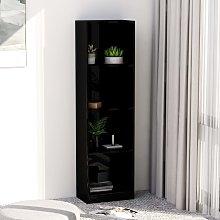 vidaXL 4-Tier Book Cabinet High Gloss Black
