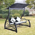 vidaXL 43072  Garden Swing Chair Poly Rattan Black