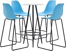 vidaXL 5 Piece Bar Set Plastic Blue