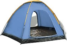 vidaXL 6-person Tent Blue and Yellow - Blue