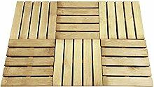 vidaXL 6X Decking Tiles 50x50cm Wood Green Patio