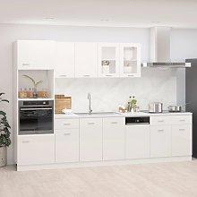vidaXL 7 Piece Kitchen Cabinet Set High Gloss