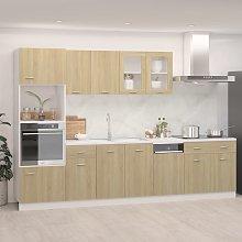 vidaXL 7 Piece Kitchen Cabinet Set Sonoma Oak